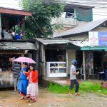 pedestrians, houses, Manipur street