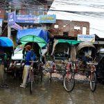 cycle rickshaw, pedicab; auto rickshaw, Manipur street