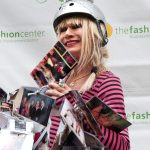 Betsey Johnson with Bike