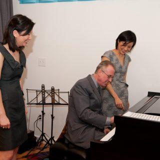 Arete Music Academy's Grand Opening Cocktail Party, Gloria, Joe Parisi, Joseph Cerivieri, Li-Ling Wang, ribbon cutting, Tiffany Kuo