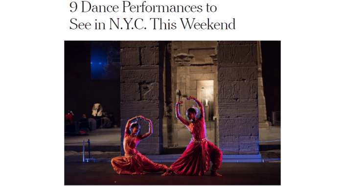 Screenshot of my photograph in the New York Times
