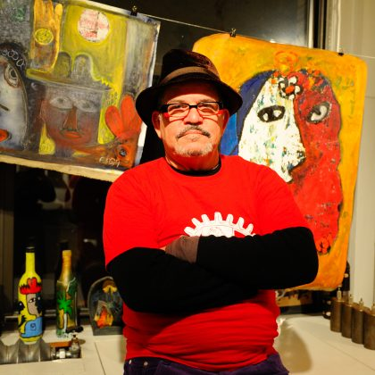 José Rodríguez Fuster is a Cuban naïve artist specializing in ceramics, painting, drawing, engraving, and graphic design