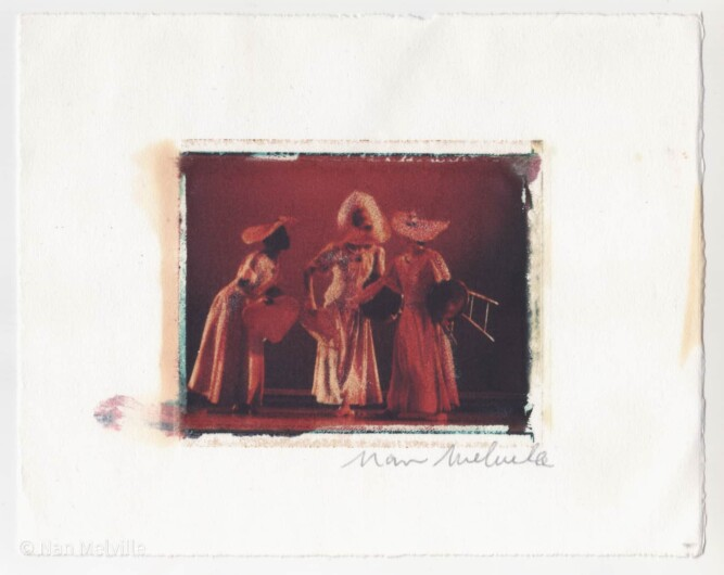 Opening scene of REVELATIONS - by Alvin Ailey founder of the Alvin Ailey American Dance Theater (Polaroid Image Transfer).