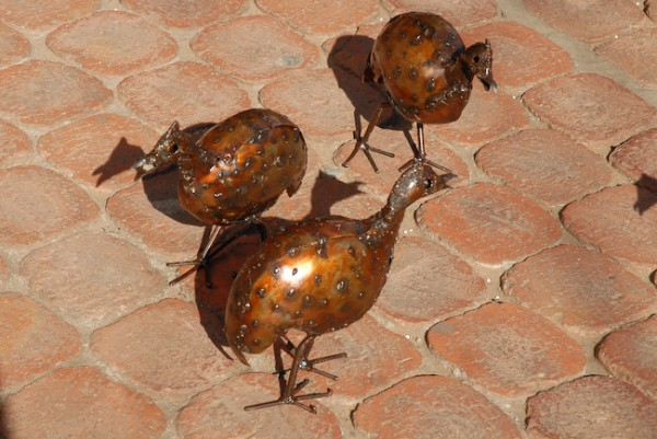 Metal Guinea Fowl, Craft Market, Johannesburg, 2008