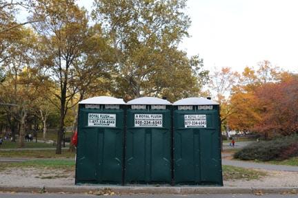 Royal Flush, portable toilets, for marathon, New York, 2009