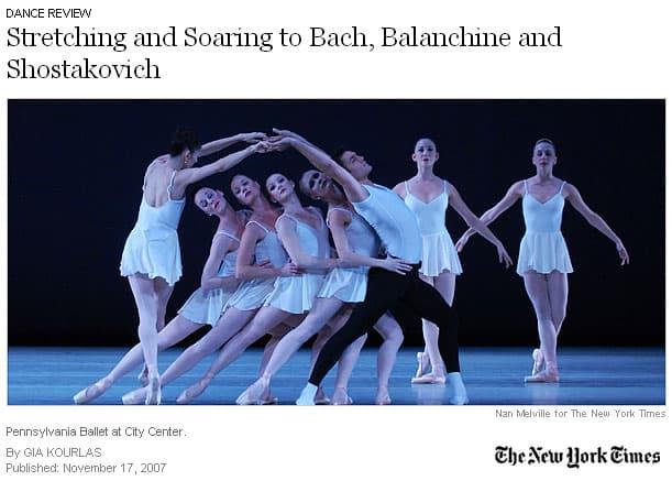 Pennsylvania Ballet at City Center, 2007
