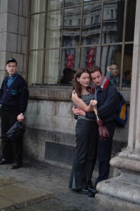 Young Couple on Dublin Street, Ireland, 2003