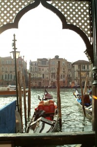 Gondolas, Canal, Venice, Italy, 2006